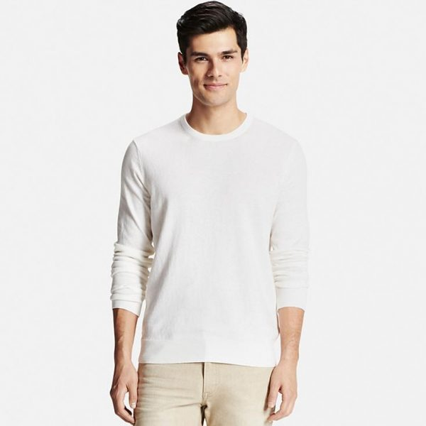 MEN COTTON CASHMERE CREWNECK SWEATER